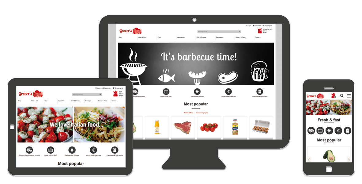SAAS FOOD COMMERCE CLOUD E-COMMERCE SOFTWARE