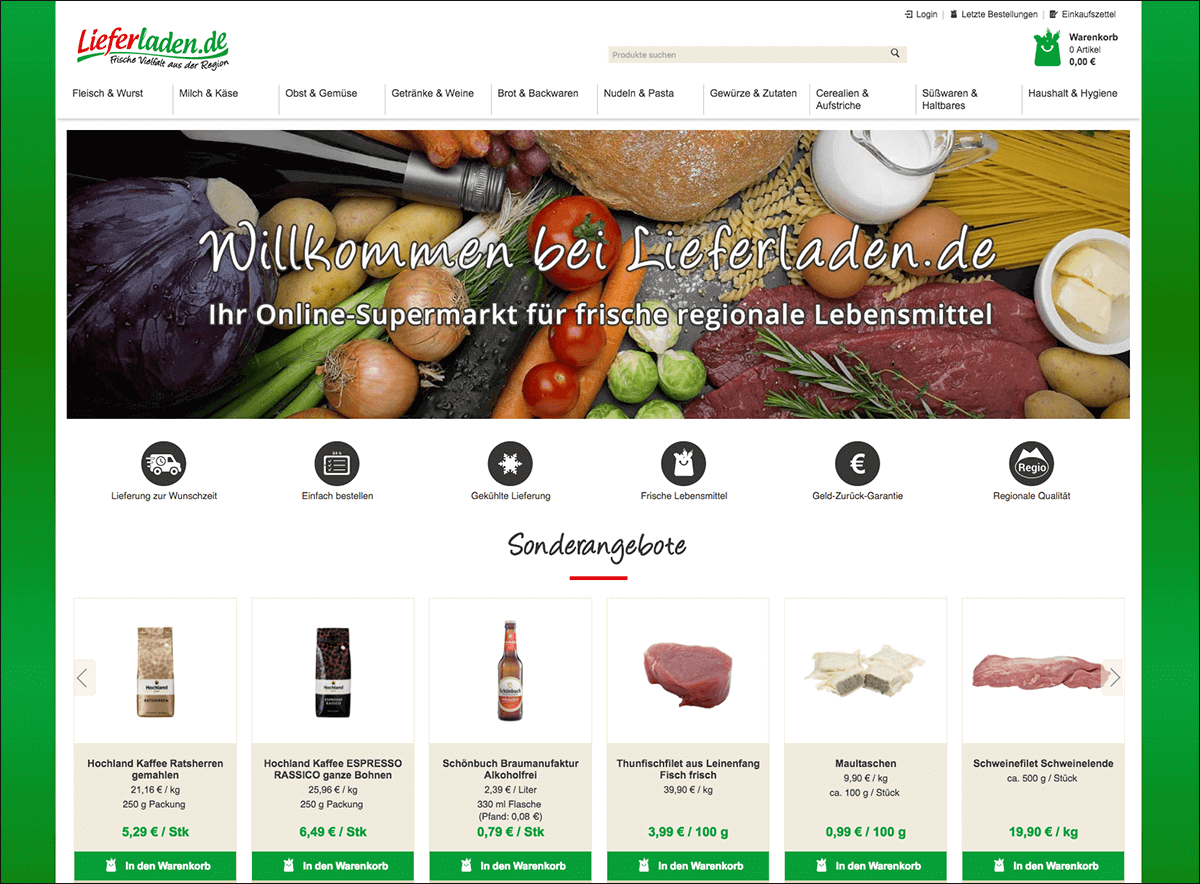 Online-Supermarkt Lieferladen.de