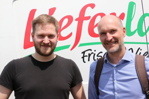 Lieferladen.de-Gründer Eberhardt Weber (re.) mit Johannes Kunkel (Mitgeschäftsführer)