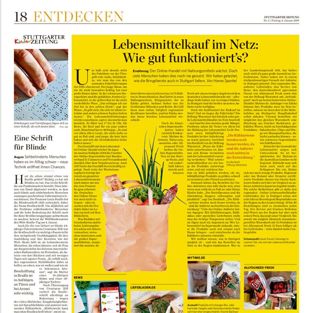 Ausgabe der Stuttgarter Zeitung vom 4.1.2019, Seite 18