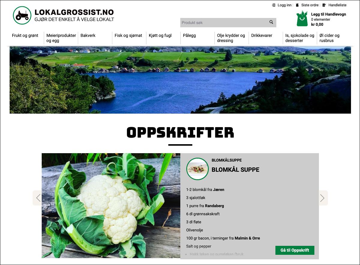 LOKALGROSSIST.NO - Lieferservice und Abholservice in Norwegen